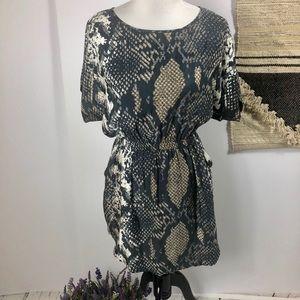 Express snake print dress with pockets sz XS